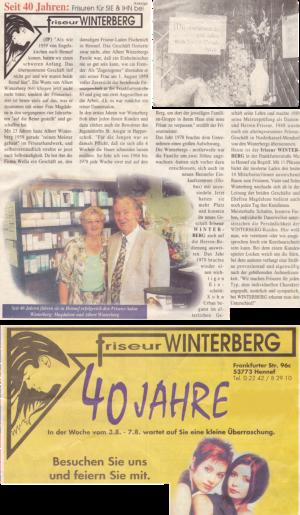 40 Jahre Friseur WINTERBERG